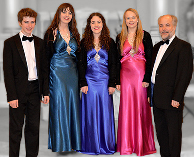 The Kelly Family Vocal Ensemble, John, Emily, Orlaith, Rebecca, and Frank