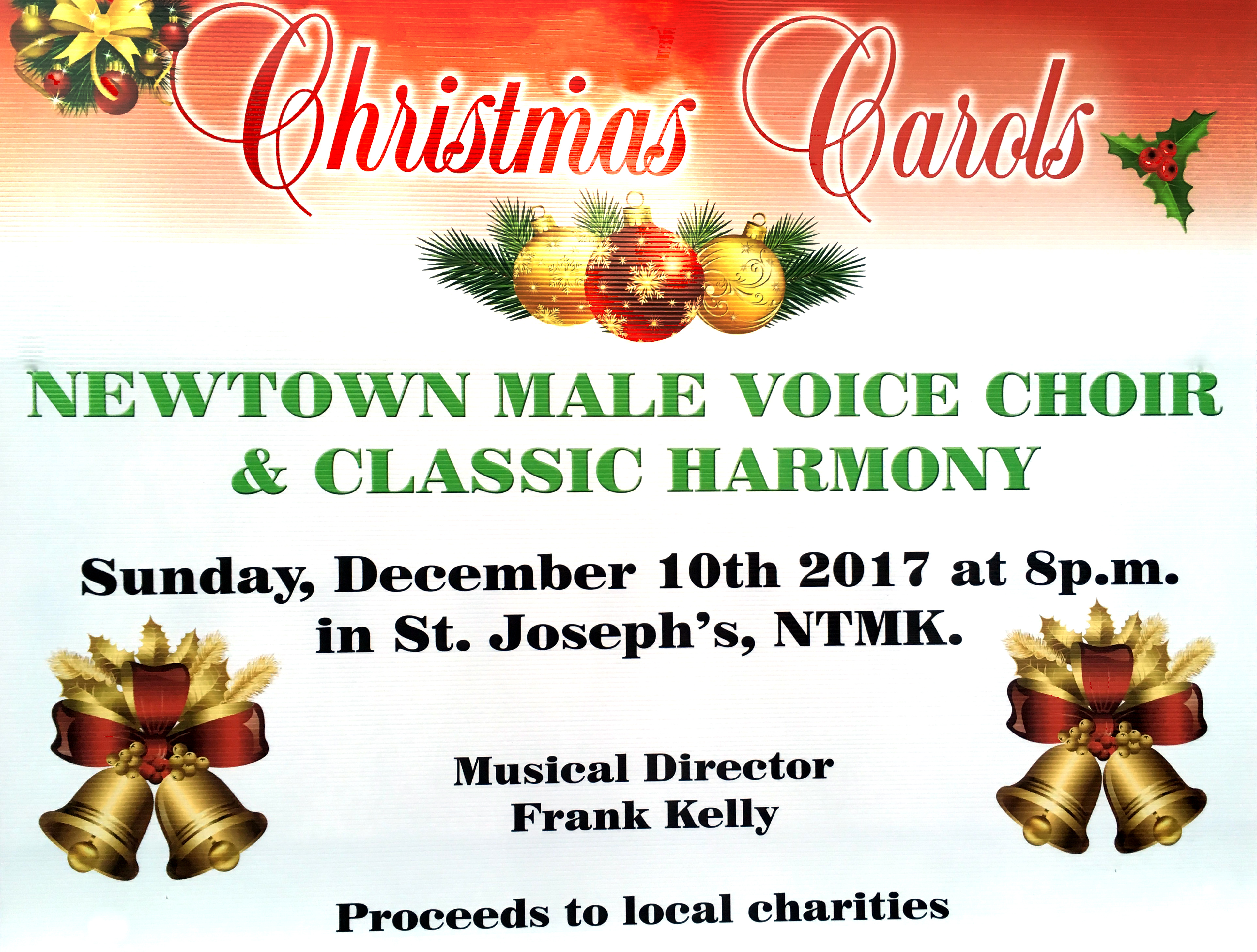 Newtownmountkennedy Male Voice Choir Christmas 2017 Poster